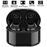 Wireless Earbuds,True Wireless Stereo Earphones Sports Mini Bluetooth 5.0 in Ear Car Headphones with Mic,Charging Box Compatible for iPhone iPad Android Smartphones Tablets, Laptop