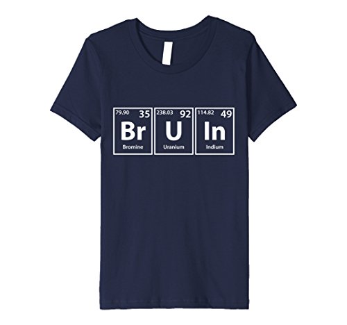 Bruins Table - Kids Bruin Periodic Table Elements Spelling T-Shirt 4 Navy