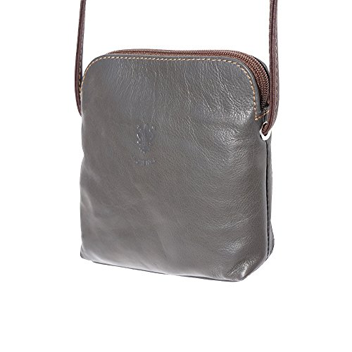 Dark 8609 cross Grey bag unisex soft leather Mini brown body qxa4RP60w
