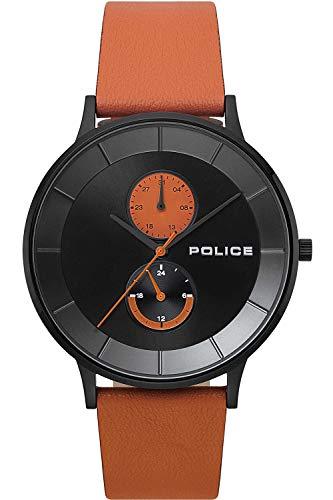 Police Berkeley Mens Analog Quartz Watch with Leather Bracelet R1451293001