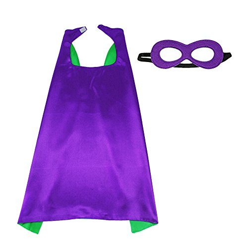 D.Q.Z Superhero Cape and Mask for Kids Adults