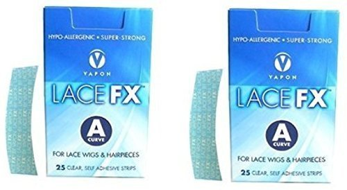Lace FX A Curve Tape Hypo-allergenic Wig Hair Piece Adhesive Tape - 2 Packs by Vapon by Vapon