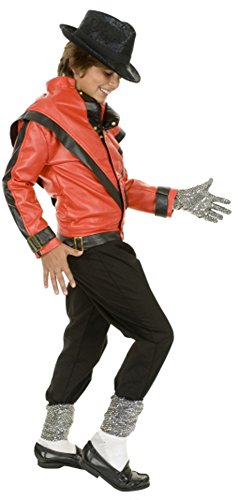 BOS Child's Thrilling Michael Costume Jacket, Size Youth Medium (Kids Thriller Costume)