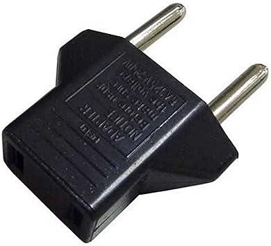 OcioDual Adaptador de Enchufe Americano Tipo A USA EEUU Hembra a Clavija Europea Tipo C EU UE Europeo Negro: Amazon.es: Electrónica