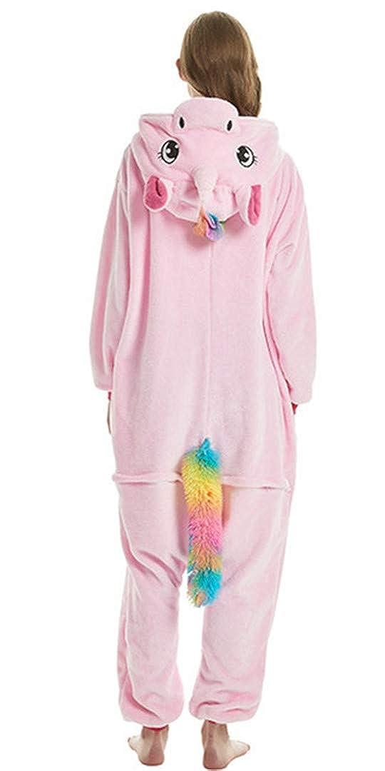 Silver Basic Einhorn Jumpsuit M/ädchen Cosplay Pyjama Tier Onesie Kost/üm Fun-Bekleidung Nachtw/äsche Erwachsene Schlafanzug