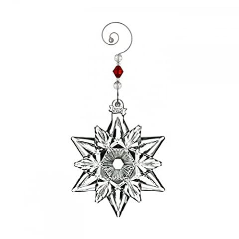 2015 Waterford Annual Snow Crystal Pierced Snowflake Christmas Ornament - Designers Waterford Crystal