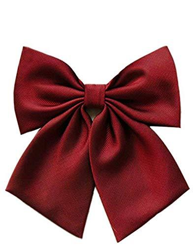 SUKRAGRAHA 1 pc Japan Cosplay Costume School Kid Girl Lolita Style Bow Tie (Red) (Red Uniform Bow)