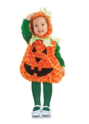 Pumpkin Costumes For Toddler (Underwraps Toddler Pumpkin Costume, Large 2T-4T)