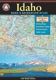 National Geographic Benchmark Idaho Road and Recreation Atlas assorted, one size