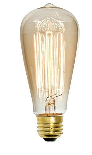 Litex Vintage 60-Watt Dimmable Amber St18 Vintage Incandescent Decorative Light Bulb -