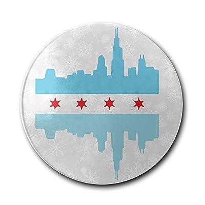 JFD Chicago Bule Flag Skyline Bar Drink Ceramic Coaster Furniture