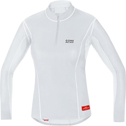 Gore Bike Wear Women's Windstopper  Base Layer Turtleneck Top, Light Grey/White, Medium (Womens Cycling Base Layer compare prices)