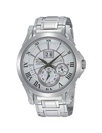 Stainless Steel Kinetic Premier Perpetual Calendar Silver Dial