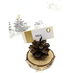 Name Card Holder, Wedding decor, Place card holders, Pine Cone name holder, Wedding accessories, Eco Wedding favors, name card holder