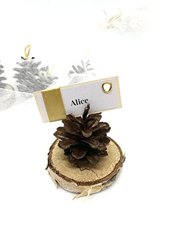 Pinecone Place Card Holders - Name Card Holder, Wedding decor, Place card holders, Pine Cone name holder, Wedding accessories, Eco Wedding favors, name card holder
