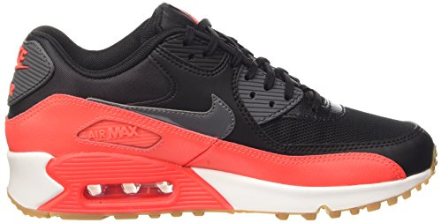 Nike Damen Wmns Air Max 90 Essential High-Top Nero (Black/Dark Grey-Brght Crmsn-Sl)
