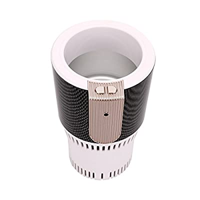 Car Cup Holder Auto Cooler Warmer Electronic DC12V Hot and Cold Holder for Cooling Beverage Cans Bottles Cola Drinks and Heating Coffee for Travel /Road Trip /Work