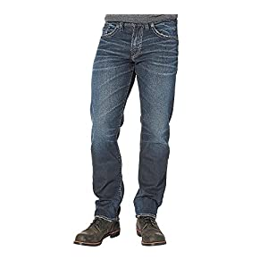 Silver Jeans Co. Men's Big and Tall Eddie Relaxed Fit Tapered Leg Jeans