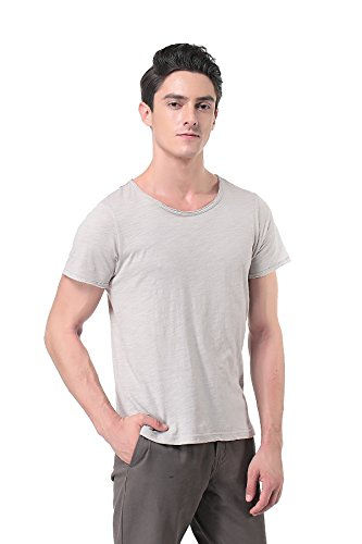 Pau1Hami1ton T-04 Men's t-Shirts Casual Shirts for Men(L, Light Grey)