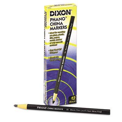 China Marker, Black, Thin, Dozen