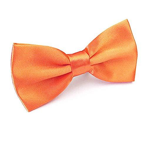 Alizeal Men's Pre-Tied Adjustable Length Solid Color Tuxedo Bow Tie, - Satin School