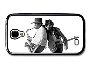 AMAF ? Accessories Bruce Springsteen and Clarence Clemons Saxophone Black and White case for Samsung Galaxy S4
