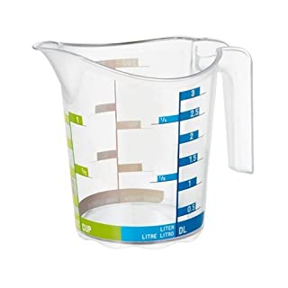 """Rotho """"Domino Measuring Cup, Green/Blue, 0.3 Litre"""