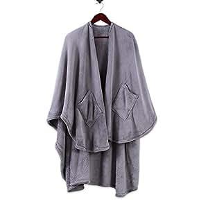 Amazon Com Berkshire Blanket Plush Primalush Cape Wrap