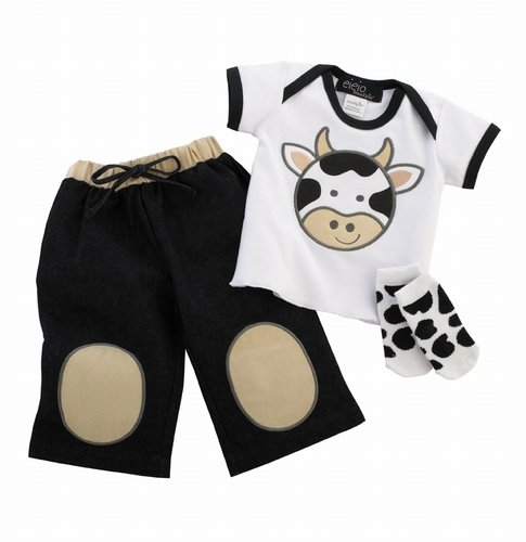 EIEIO Boys Cow 3pc Play Set