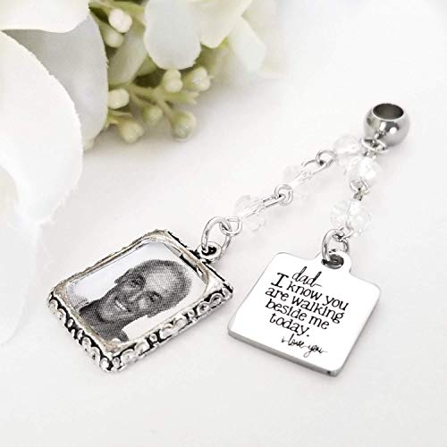 Bouquet Charm Frame Remember Father Dad, Wedding Memorial ()