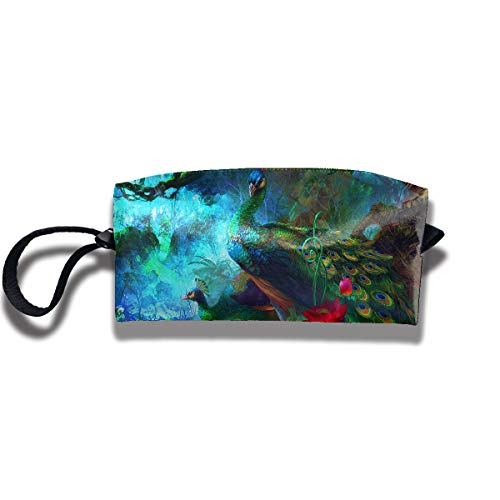 Homlife Portable Students Pencil Case Pen Bag Stationary Case Beautiful Peacock Funny Graphics Storage Pouch Makeup Cosmetic Bag (Selena Clutch)