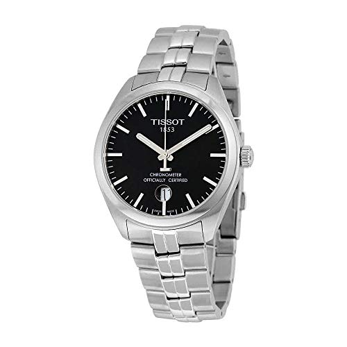 Tissot PR 100 COSC Black Dial Stainless Steel Mens Watch T1014511105100