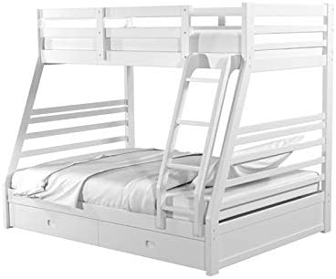 Furniture of America Tomi Wood Twin Over Full Storage Bunk Bed
