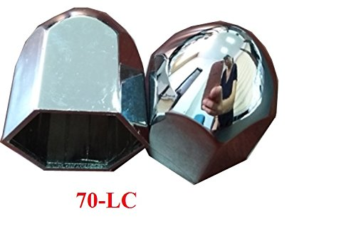 ZXLY BRAND SET OF 100PCS 70LC CHROME ABS 1.5''(38MM)X 2 1/4'' LUGNUT COVER by ZXLY (Image #1)