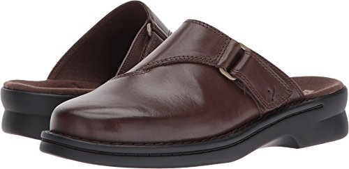 CLARKS Women's Patty Nell Mule, Dark Brown Leather, 8 M US