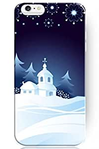 fashion case Special Design Pattern Hard Snow View Star for Apple 6 (6 4.7.7 Inches) iPhone Christmas Case