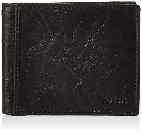 Fossil Men's Richard Leather RFID Blocking Bifold Flip ID Wallet