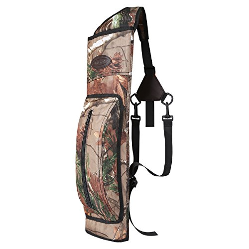 G4Free Archery Deluxe Canvas Back Arrow Quiver Hunting Target Arrow Quiver(camouflage)