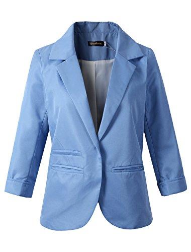 light blue blazer - 2