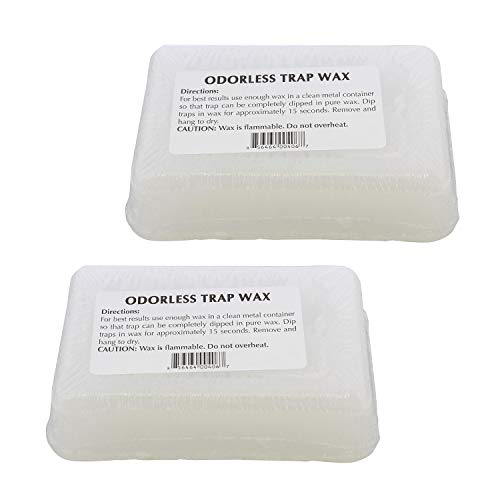Redneck Convent RC Odorless Trap Wax - 2 Pound Paraffin Wax for Trapping Supply Preservation, Snare Dipping Wax Seal Wax
