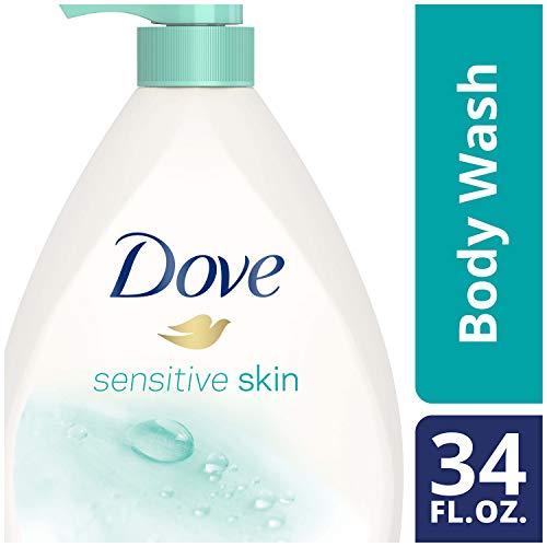 Dove Body Wash Pump, Sensitive Skin, 34 oz
