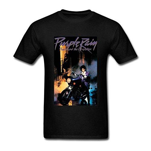 DHKPG Men's Prince Purple Rain Poster O Neck T Shirts DHKPG