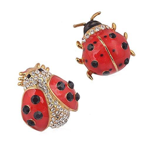 Partyfareast Cute Animal Ladybug Brooch Pins Set (set (Ladybug Fashion Pin)