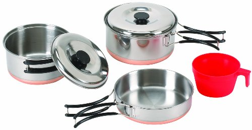 Stansport 1-Person Stainless Steel Cook Set (Multi Compact Cookset)