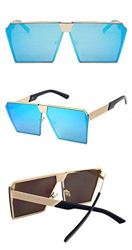 de bleu chaude conduite mode châssis soleil Ultra Womens DESESHENME Mens Light réflexion de Lunettes polarisées métallique Wayfarer q7paIg
