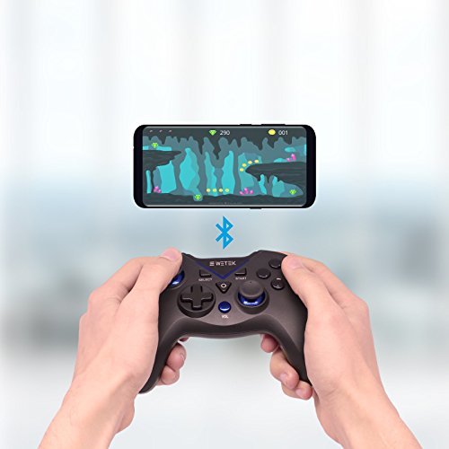 Gamepad / Joystick WeTek for Android systems (smart boxes, mobile phones and smartphones, tablet, mobile gaming), Amazon Fire TV, Gamefly, Steam OS and Windows PC USB 2.0 Bluetooth Wireless Li-Battery by WeTek (Image #4)
