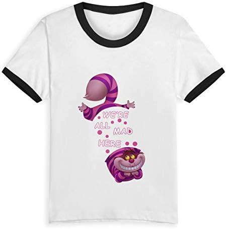 Queen Elena Alice in Wonderland Cheshire Cat, 2 – 6Y Cartoon Print Boys T Shirt Summer Infant Kids Niñas Fashion Camisetas Ropa Algodón Bebé Contraste Color Negro Negro (3 años: Amazon.es: Ropa