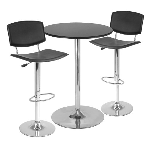 Winsome Spectrum 3-Piece Pub Table Set, 28-Inch by Winsome