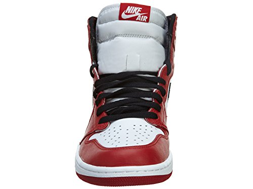 Nike Air Jordan 1 Retro High Og, Zapatillas de Deporte para Hombre Blanco / Negro / Rojo (White / Black-Varsity Red)