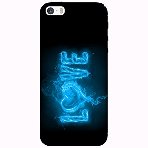 Coque Apple Iphone 5-5s-SE - Love feu bleu ciel